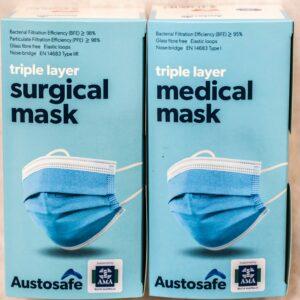 Austosafe Level 2 Surgical Masks - 1000 Masks